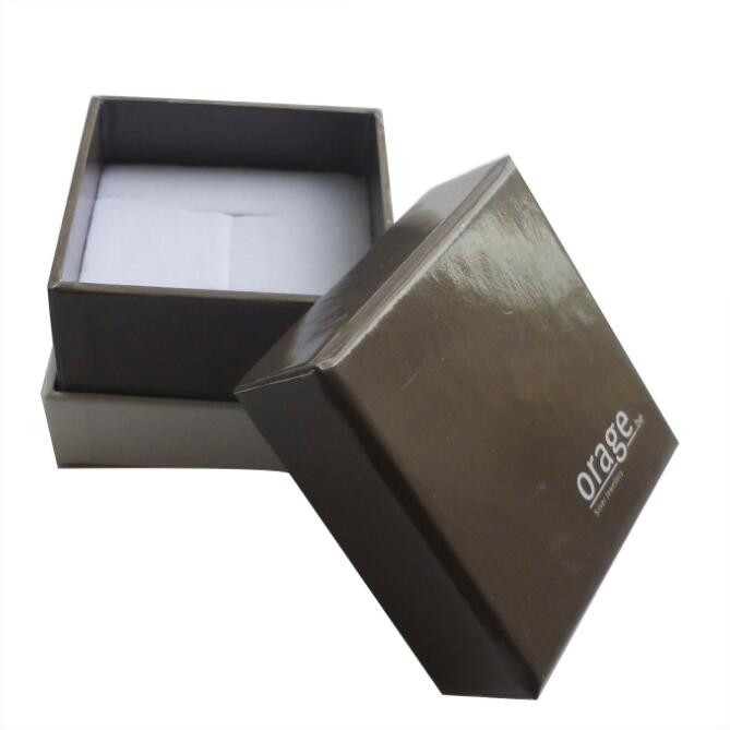 Wholesale custom rigid square gift packaging paper jewellery box