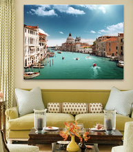 Modern European Landscape Art Print on Canvas Wall Painting for Home Decor