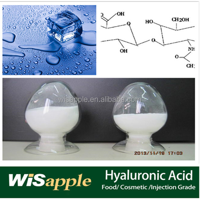 Food/cosmetic/injection Grade sodium Hyaluronic Acid Powder