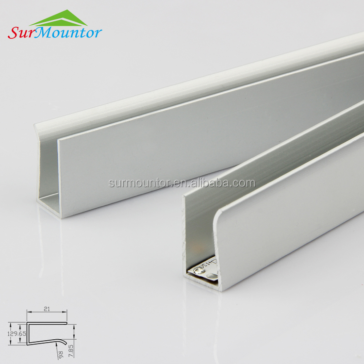 aluminum led edge lit profile/led frofile for glass lighting