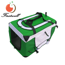 Zippered Folding Collapsible Pet Dog Carrier Crate