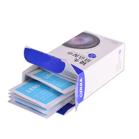 Multi-purpose disposable lens cleaning tissue wet strength paper