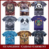 Custom made new style fashion 100% cotton animal printed 3d t-shirt