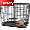 folding durable two doors with divider aluminum dog cage