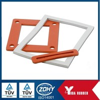 Customized rectangular color silicone seal gasket for medical machines sealing