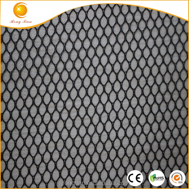 Wholesale black 100% poly types of knitted fabric for lining
