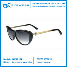 Butterfly Sunglasses cat eye Black/Gold