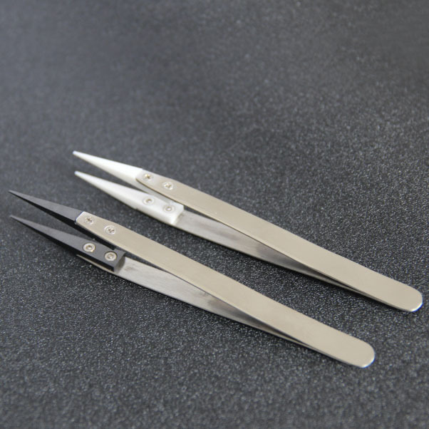 E cigarette Assembly Tools / Heat Resistant Tweezer Type Ceramic Tweezers Rebuild tool Heat Resistant ceramic Tweezers