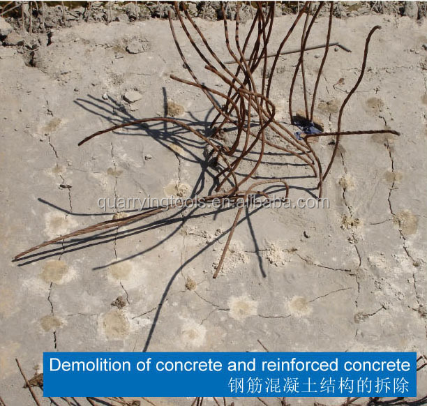 Fast Splitting Rock and Concrete Dust-freee Expansive Mortar