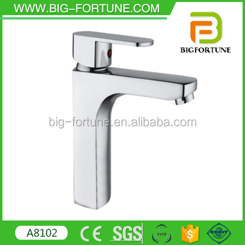 popular design brass basin faucet curved sanitary item