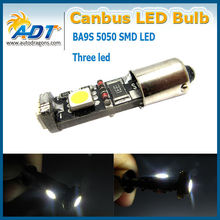 T10/ba9s 3SMD 5050 LED CAR INTERIOR CANBUS WEDGE DOME/MAP LIGHT BULB WHITE