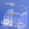 exquisite design acrylic customized locked storage box with drawer and lid wholesale