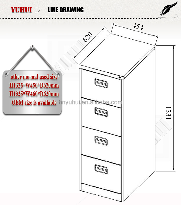 office furniture metal drawer cabinet design for sale
