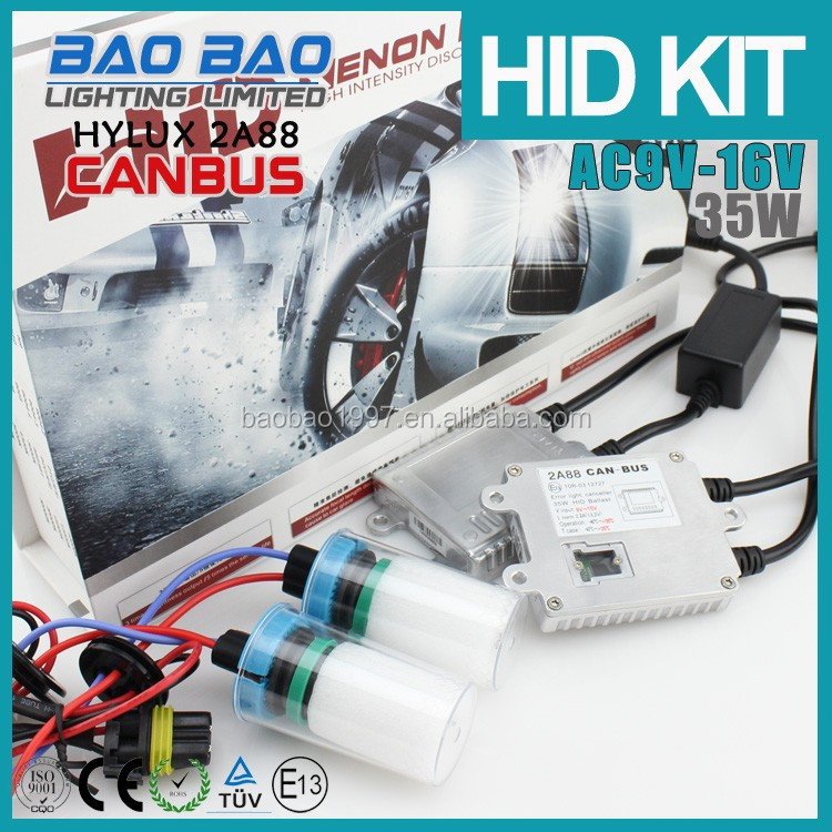 Waterproof Good looking hid xenon headlight, xenon hid torch light, HID HYLUX CANBUS ballast HYLUX CANBUS Ac 35watt