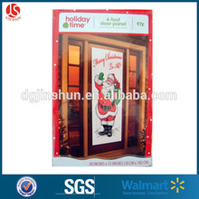 Christmas Plastic PE Material Wall Decortaion Door Cover