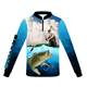 Healong Oem Cheap Fishing Jersey Sublimation Custom Fishing Shirt Clothes