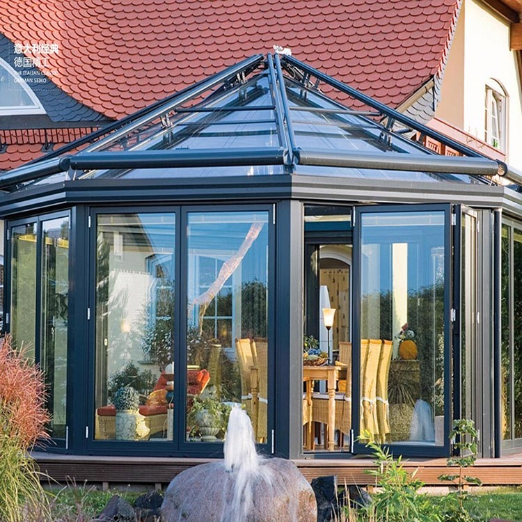 Modern Glass Houses Sunroom Prefabricated Glass House