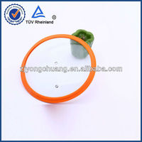 Silicone Glass Lid stainless steel Aluminum pan tempered combined cooking pot lids with knobs