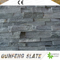 Erosion Resistance Antacid Natural Green Stone Panel Slate Wall Cladding