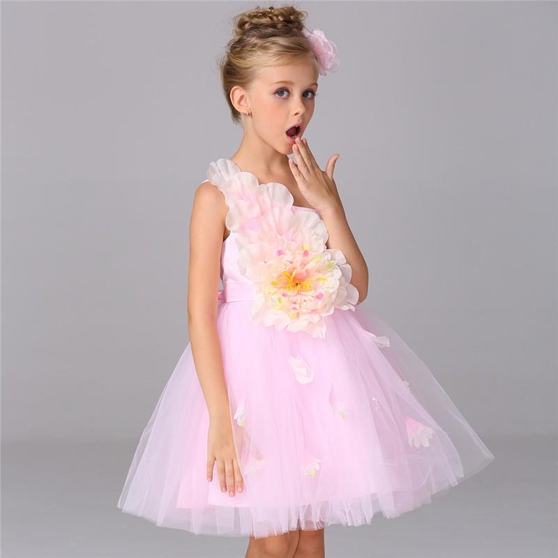 Envío libre Maxi vestido de novia elegante tulle vestido de niñas de ...