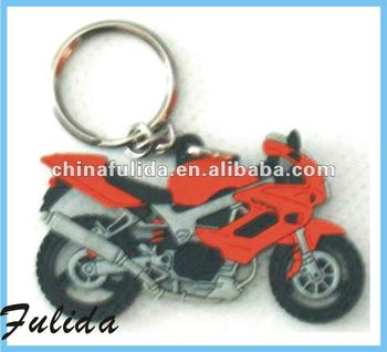 custom rubber motorcycle keyrings keychain