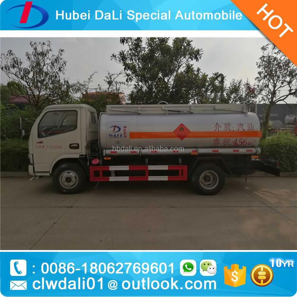 5000L Fuel bowser truck diesel tank truck tank with counter