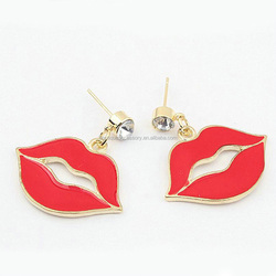Personality & Exaggerated Red Lips Earrings