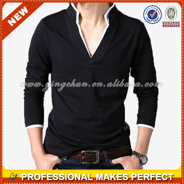 Top quality bni winter garments, v neck mens knitted sweater(YCH-A1041)