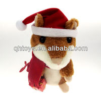Chirstmas repeat talking plush x hamster
