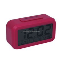 Digital mini snooze light alarm clock