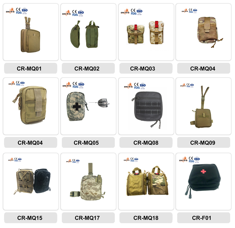 Manufacture approved promotional shoulder bag camouflage tactical military medical first aid kit