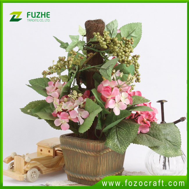 2016 Hot sale artificial Hydrangea flowers bonsai,Hydrangea flower bonsai tree