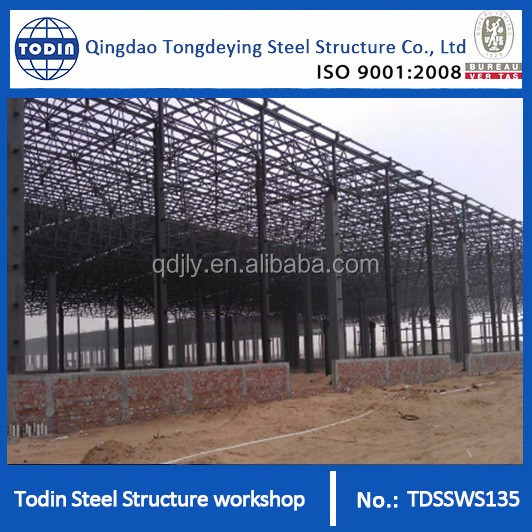 Large Span Steel Structure Space Frame For Workshop