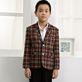 New design kids boys woolen plaid blazers
