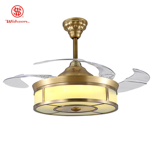 Home 42 inch folding invisible blade ceiling fan with led light