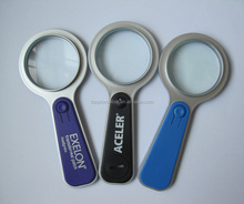 HEYU plastic pocket led magnifier for promotion