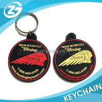 Promotion Gift Manufacturer Round Shape Company Logo Die Cut Soft PVC Rubber Key Chain