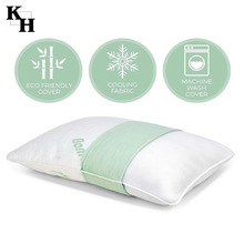 Luxury design durable shredded bamboo memory foam pillow