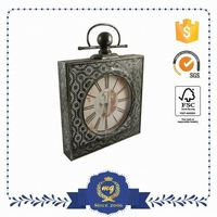 Hot Product Small Order Accept Metal Quartz Skeleton Clock