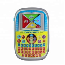 English intelligent color screen kids mini learning machine, kids laptop toy