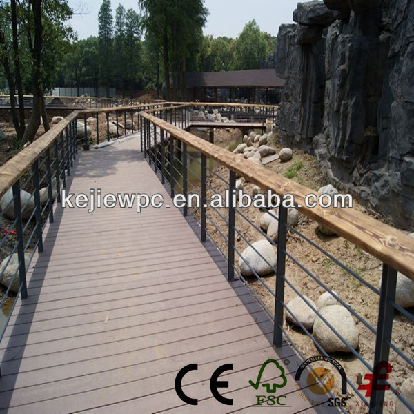wood plastic composite panel manufacturer Sanding Brushed WPC Decking Outdoor Flooring