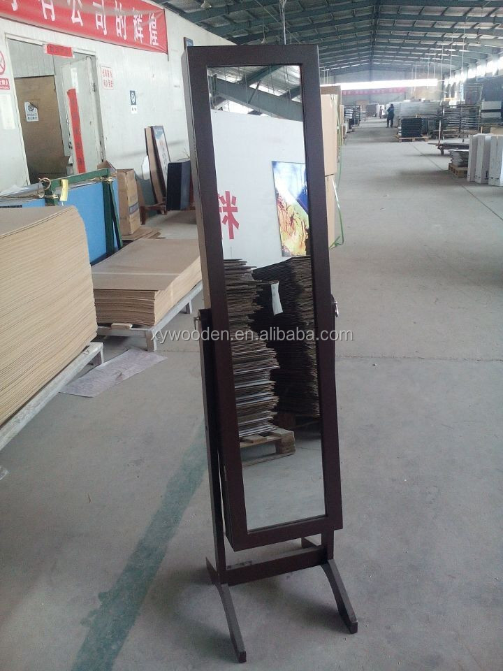 Fashionable Wooden Jewelry display mirrored Cabinet with high quality