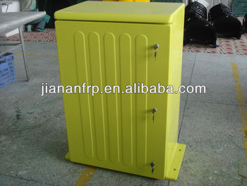 Free standing customized fiberglass enclosure for battery FRP SMC box