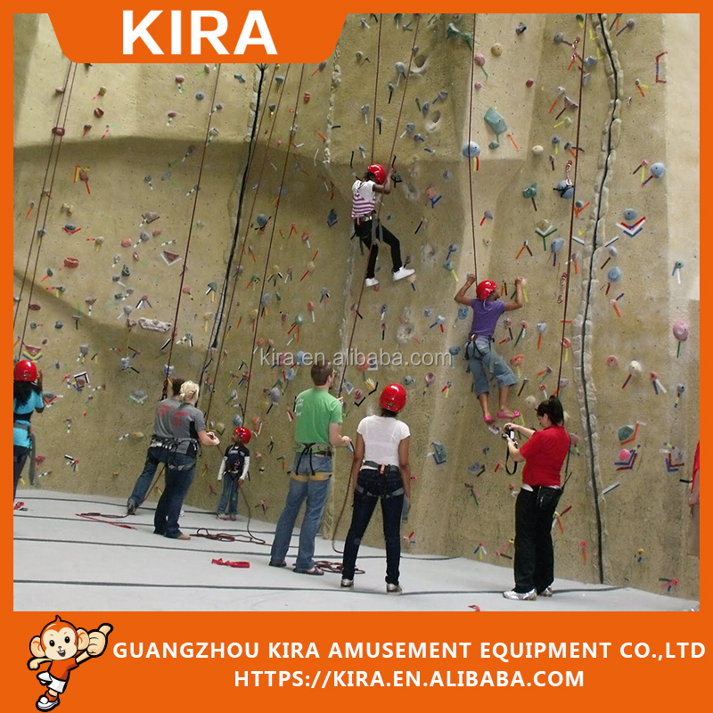 Climbing wood Walls children adults play area equipment rocking climbing wall