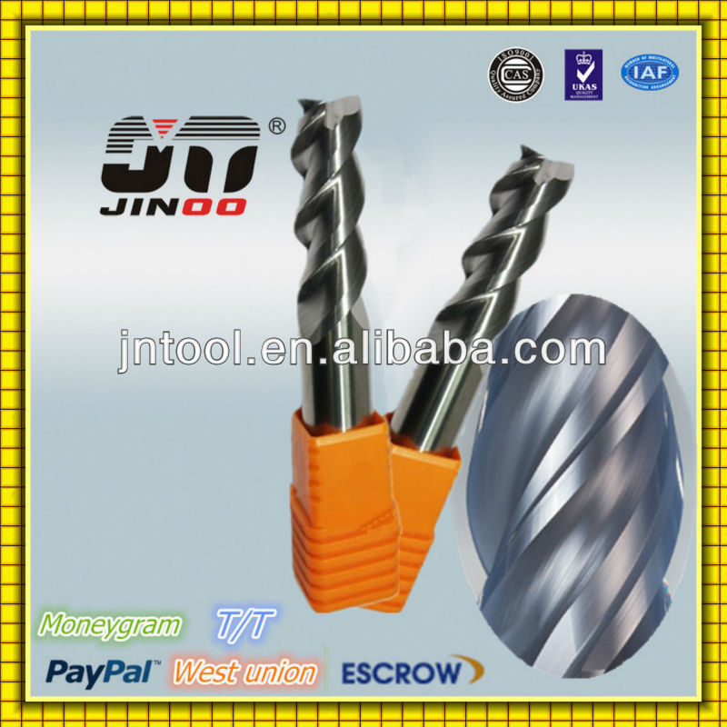 JINOO Germany technology end mill HRC48 tungsten carbide cutter