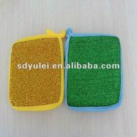 durable kitchen sponge with abrasive layer