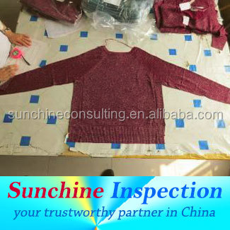 shenzhen sweater quality inspection service /third party inspection in zhejiang