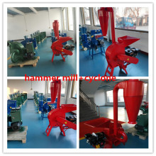 Cattle feed grinding machine with cyclone
