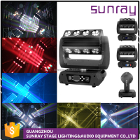 Supper Beam Dj Light H31 Channels Master-Slave Control 16Pcs 25W 360 Rollerled Beam Moving Head Wash