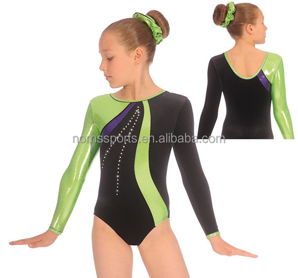 2016 OEM Custom Long Sleeve Spandex Girls Lycra Leotard